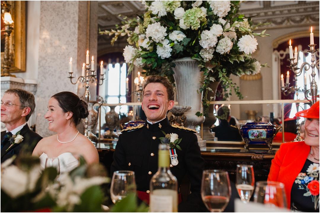 Speeches at Belvoir Castle wedding