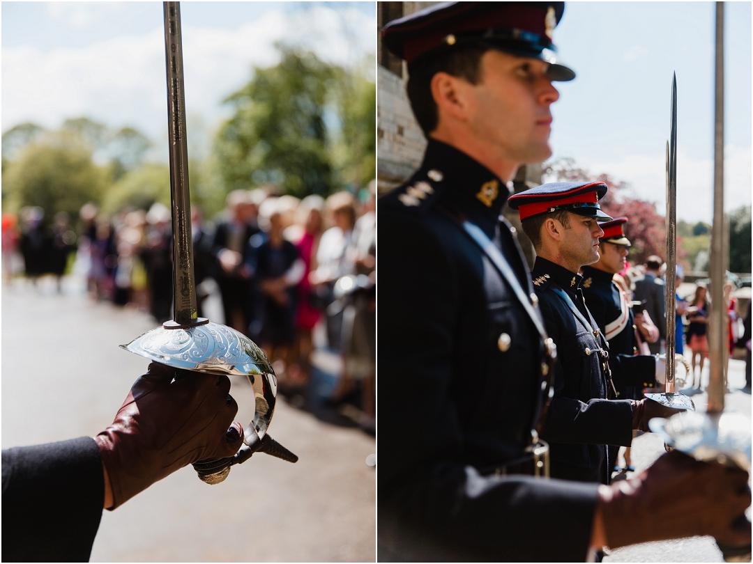 Guard of honour at belvoir castle