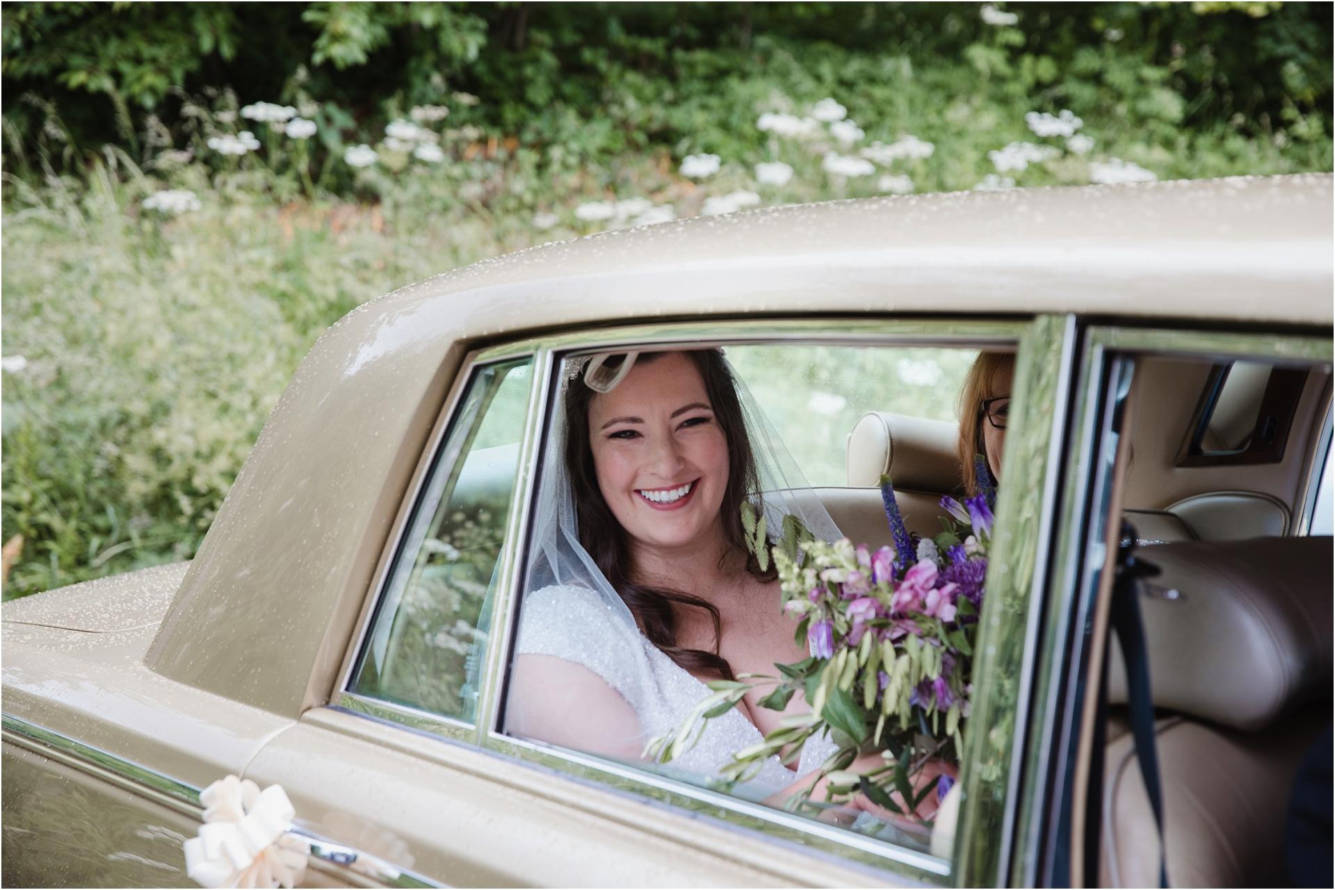 Bride arrival Haddon Hall