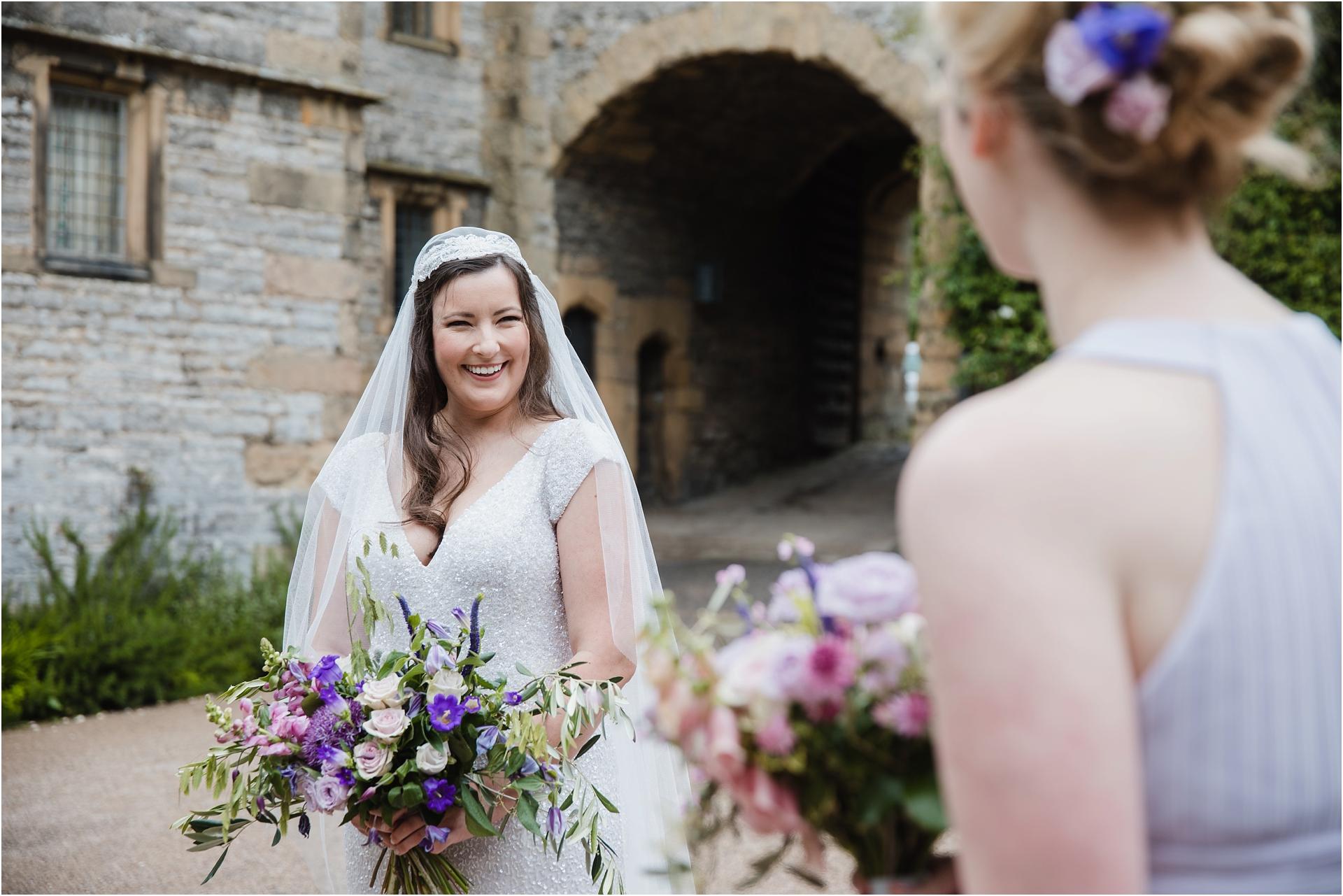 Bridal style at Haddon Hall