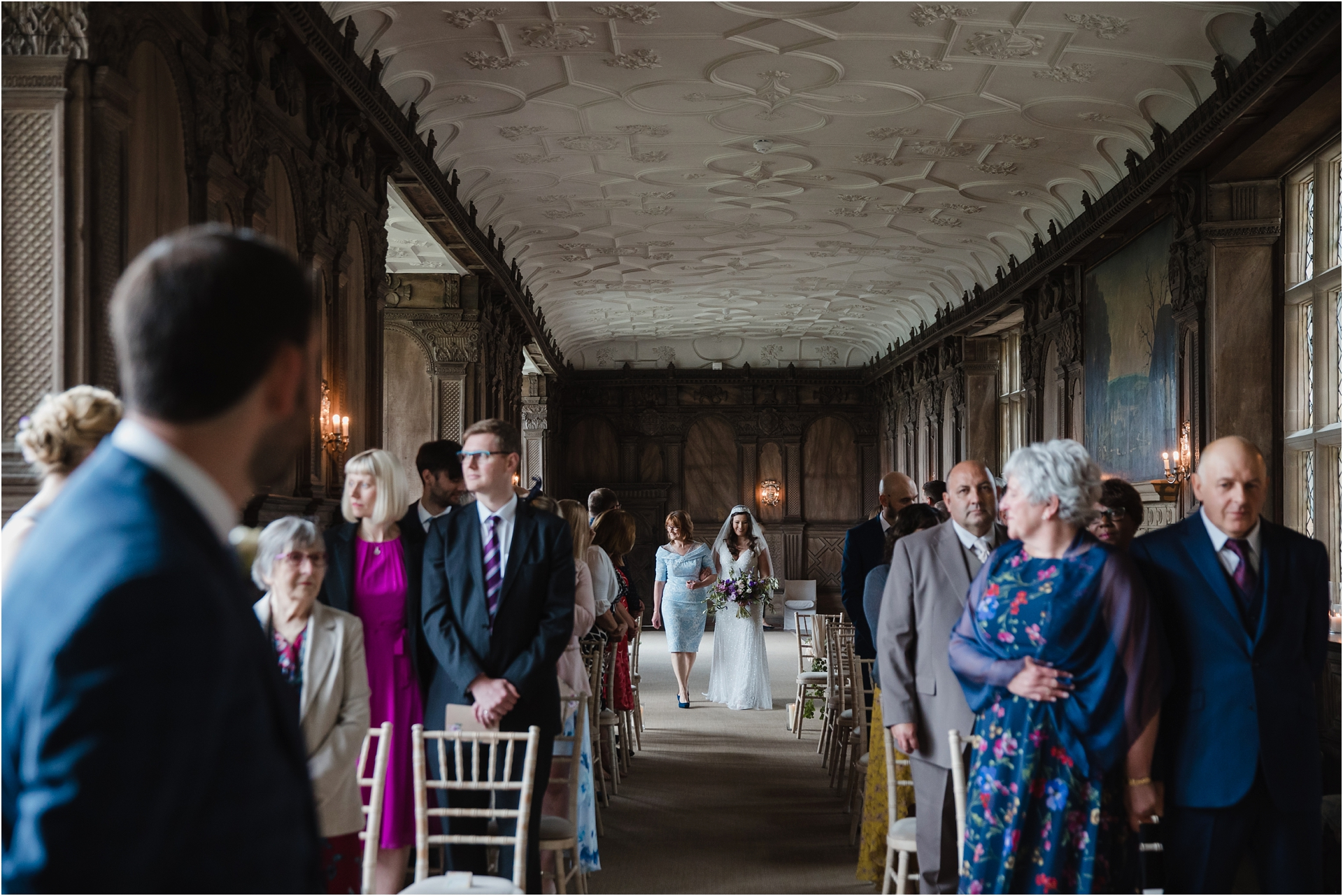 Wedding in the Long Gallery at Haddon Hall