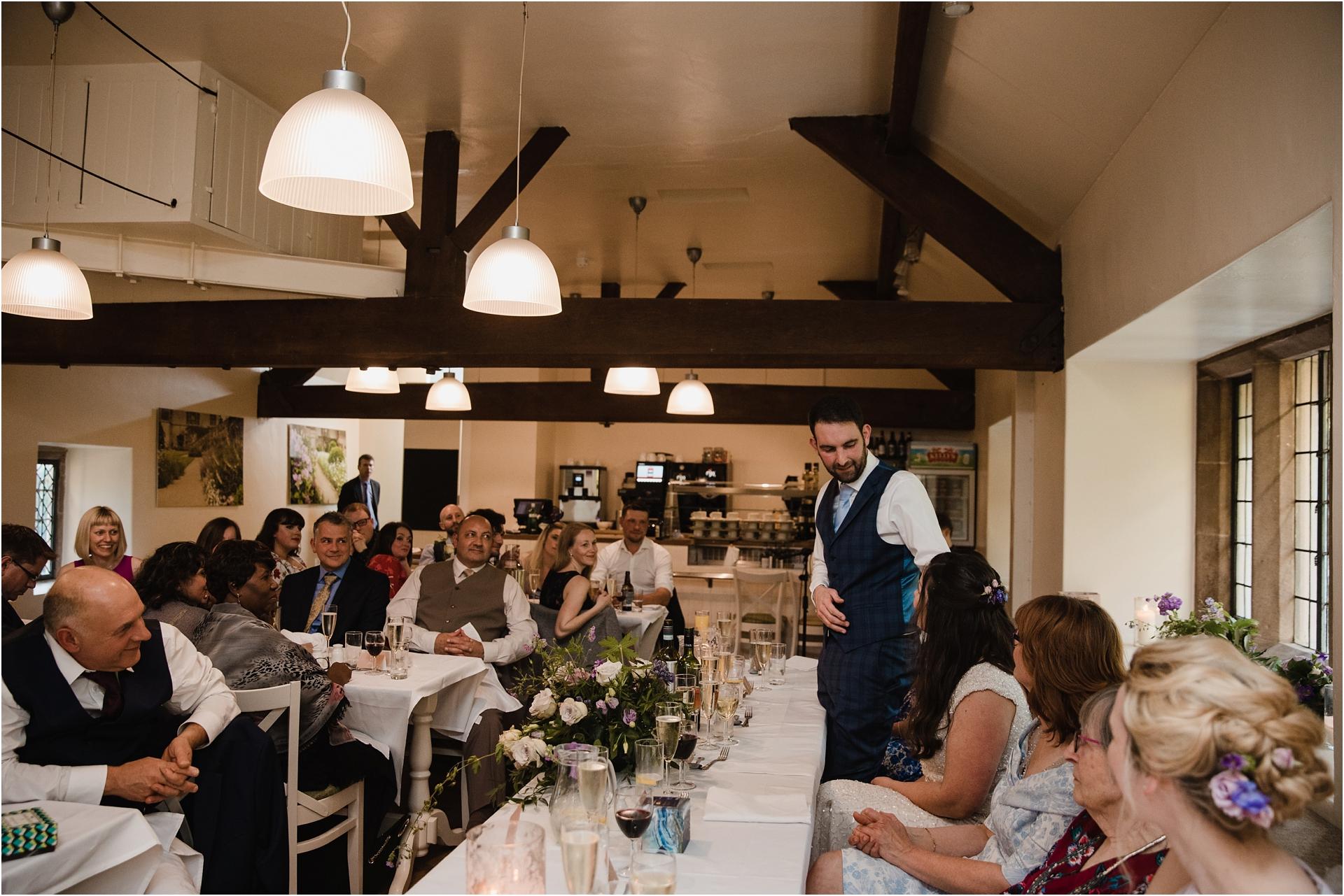 Wedding speeches at Haddon Hall