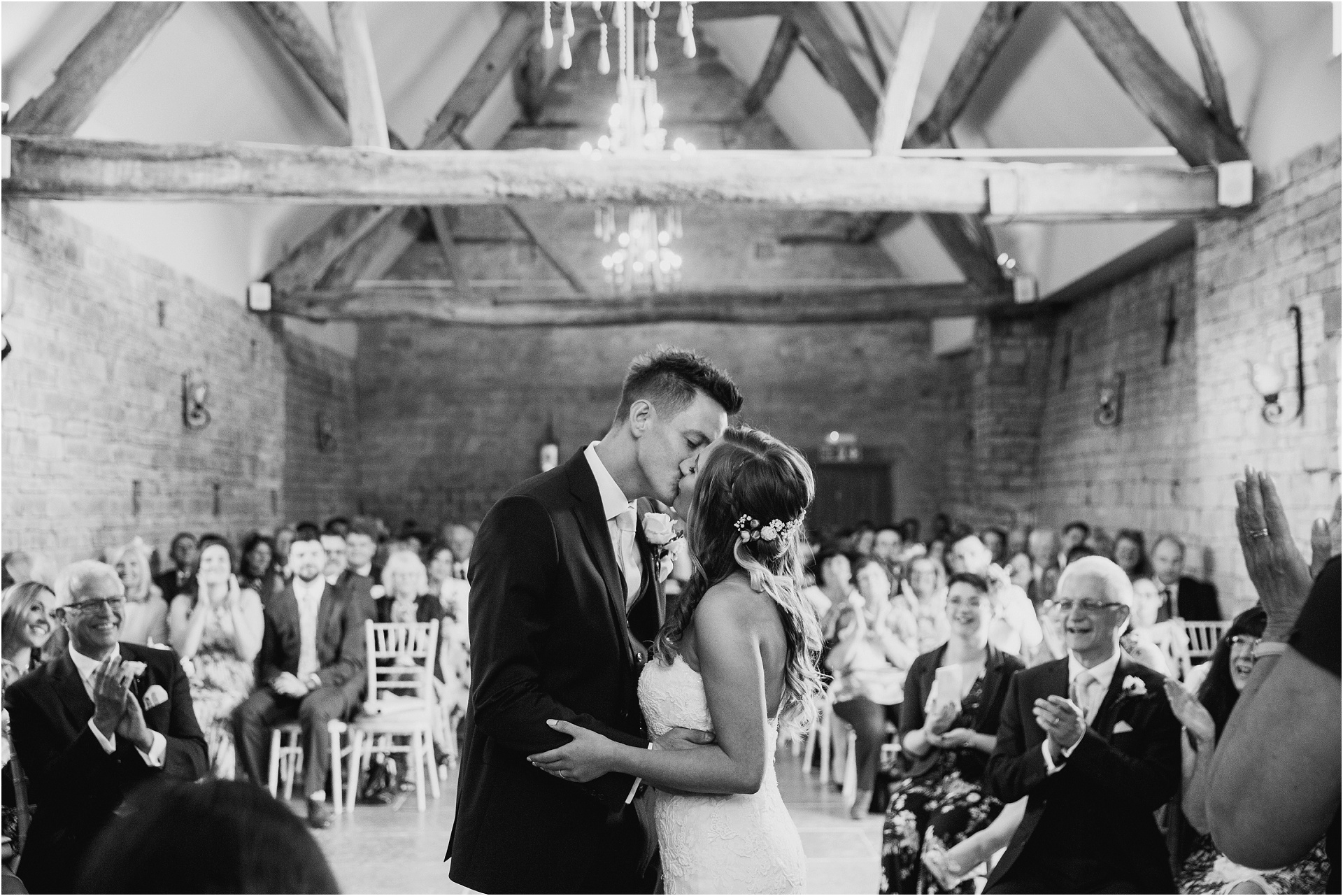 wedding ceremony at Blackwell Grange