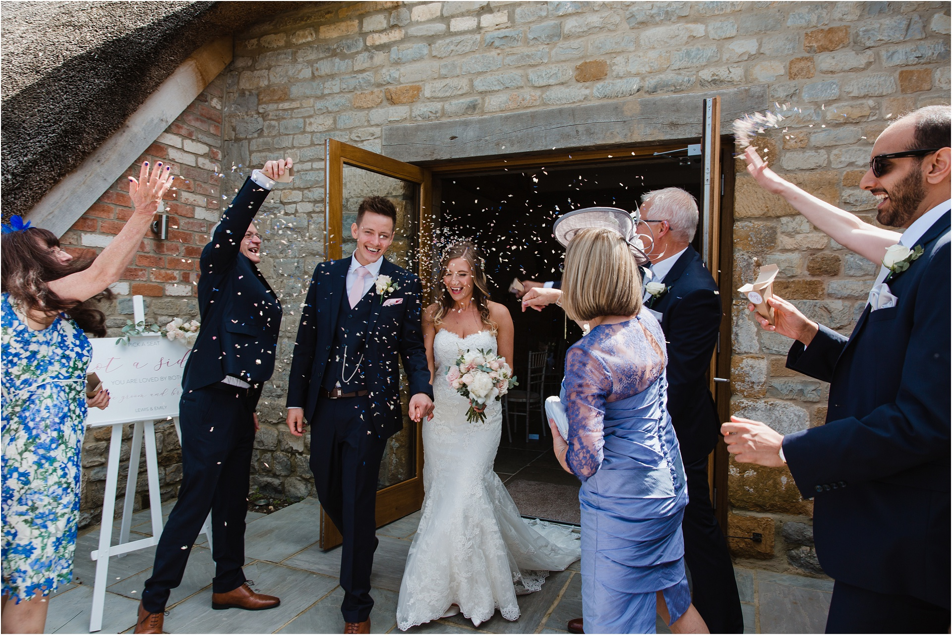 confetti at Blackwell Grange