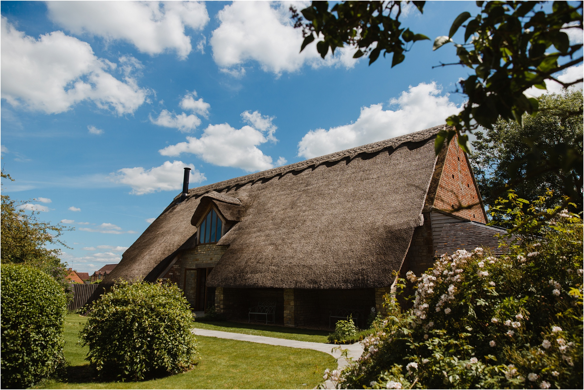 Blackwell Grange thatched barn