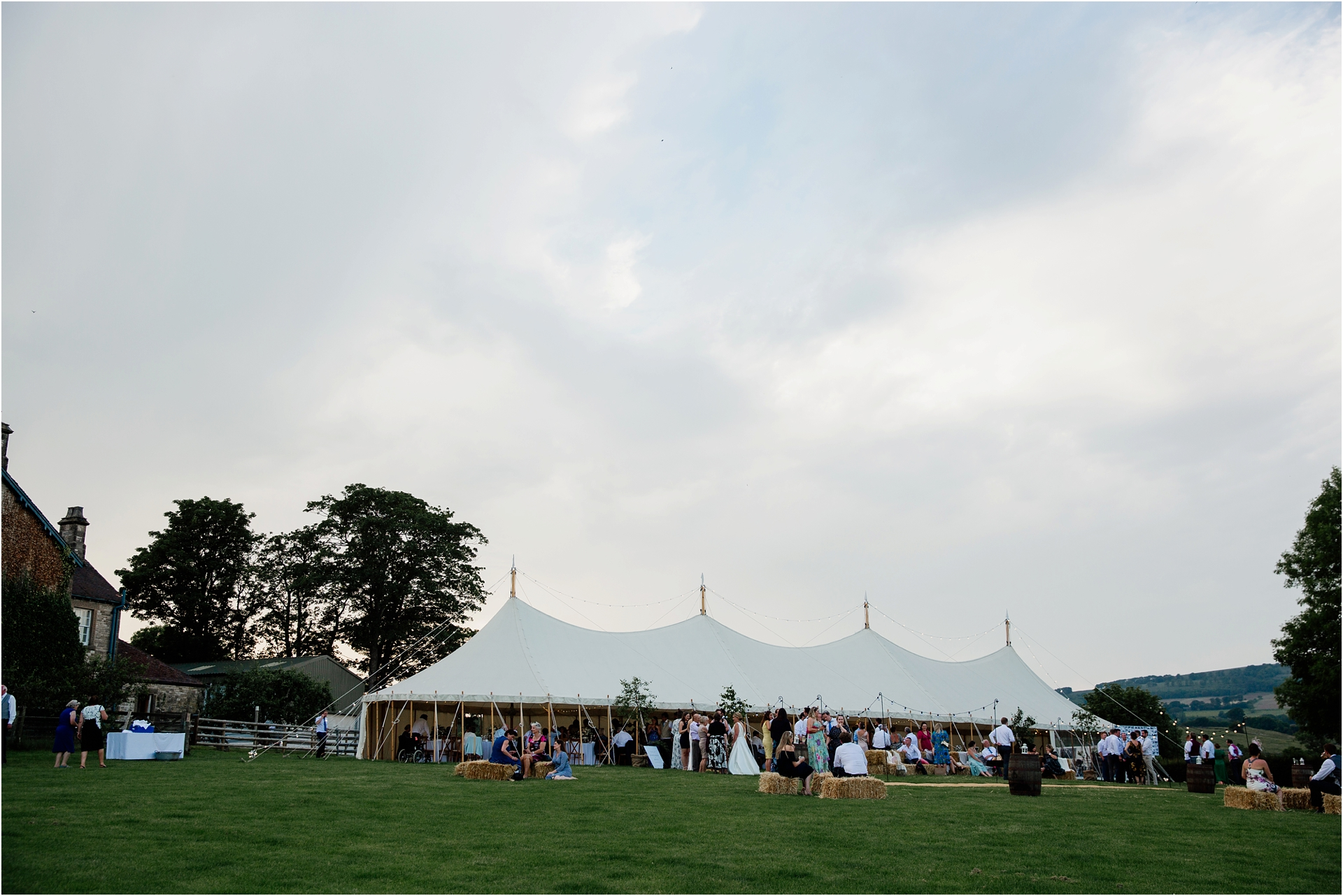 marquee wedding Derbyshire