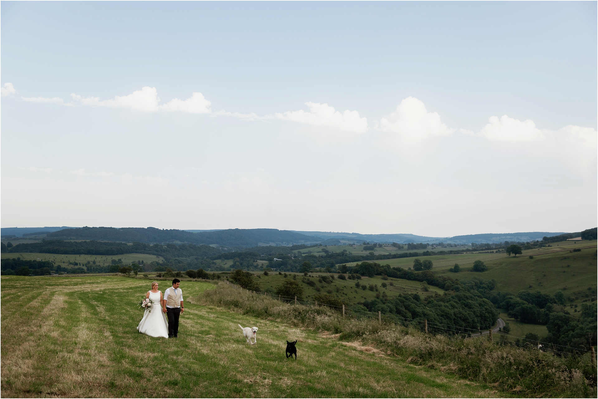 Golden hour Derbyshire wedding portraits