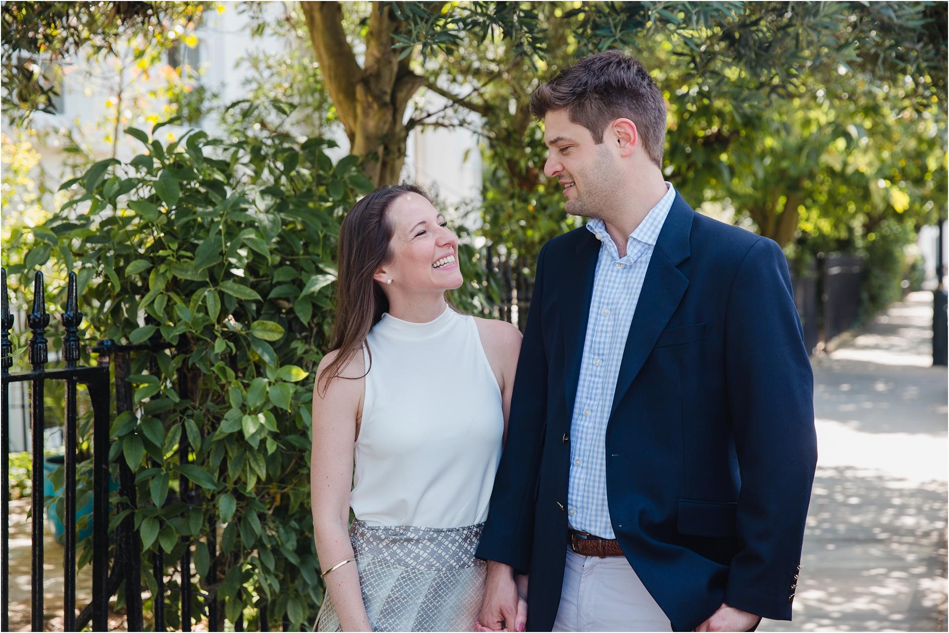 Engagement session in Kensington