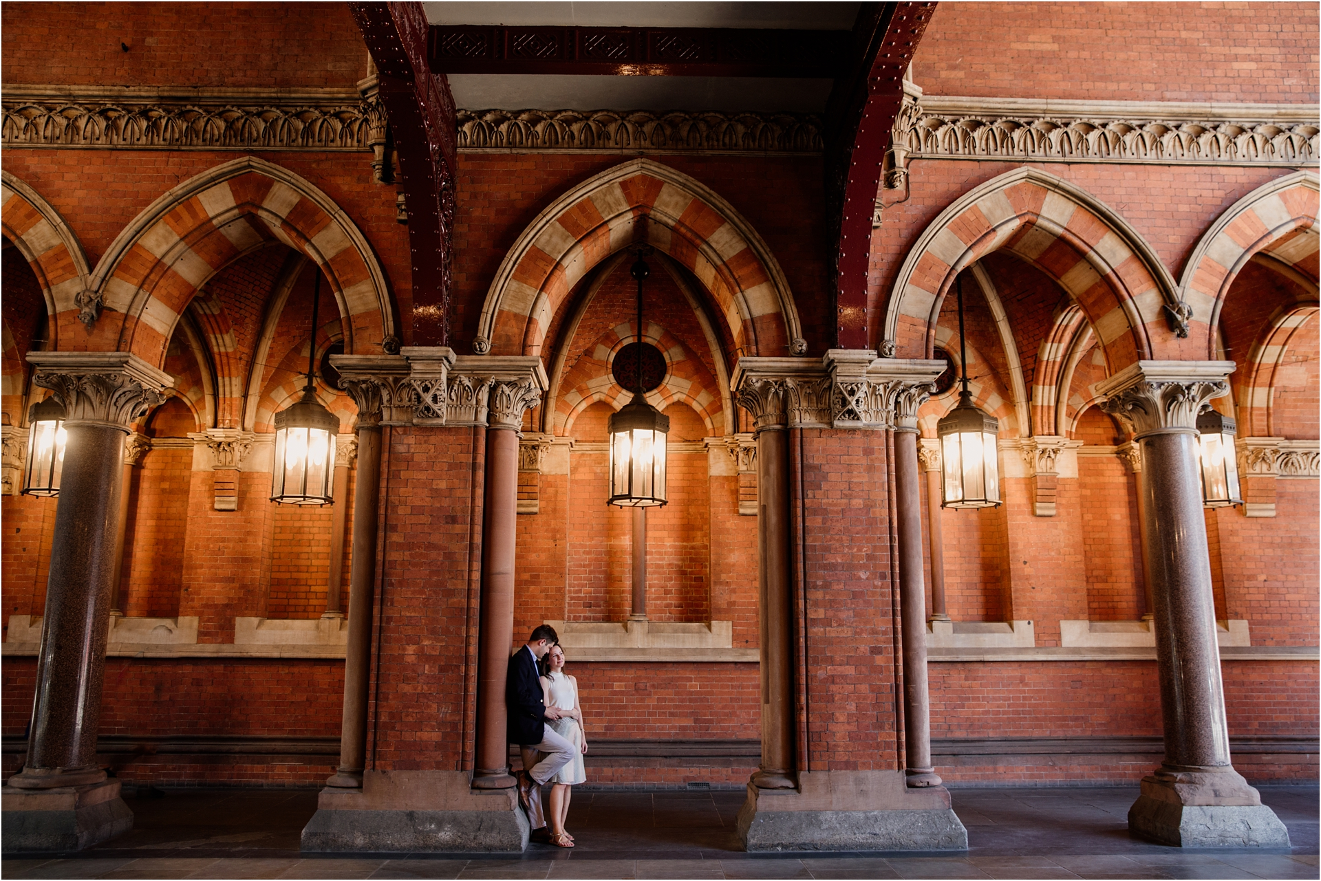 Engagement session in St Pancras Station