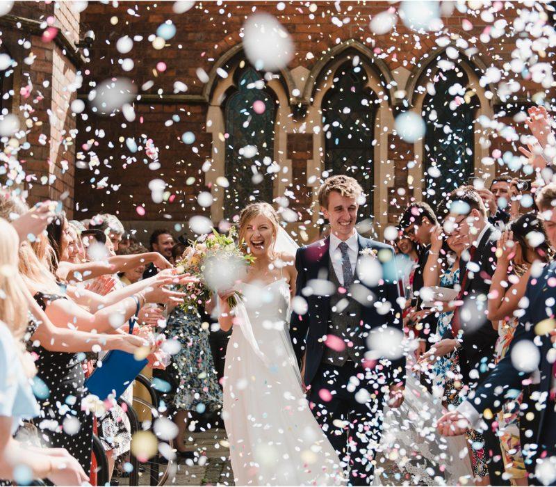 Vibrant Gorcott Hall wedding photography