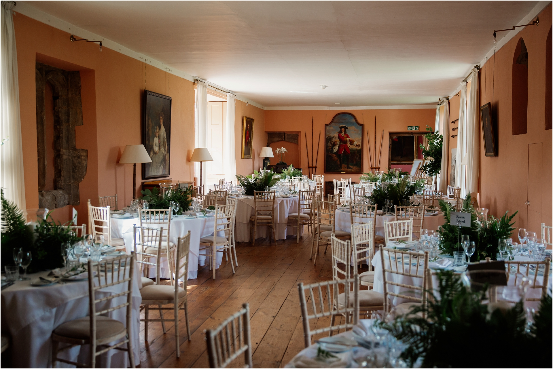 dining room at Holme Pierrepont Hall