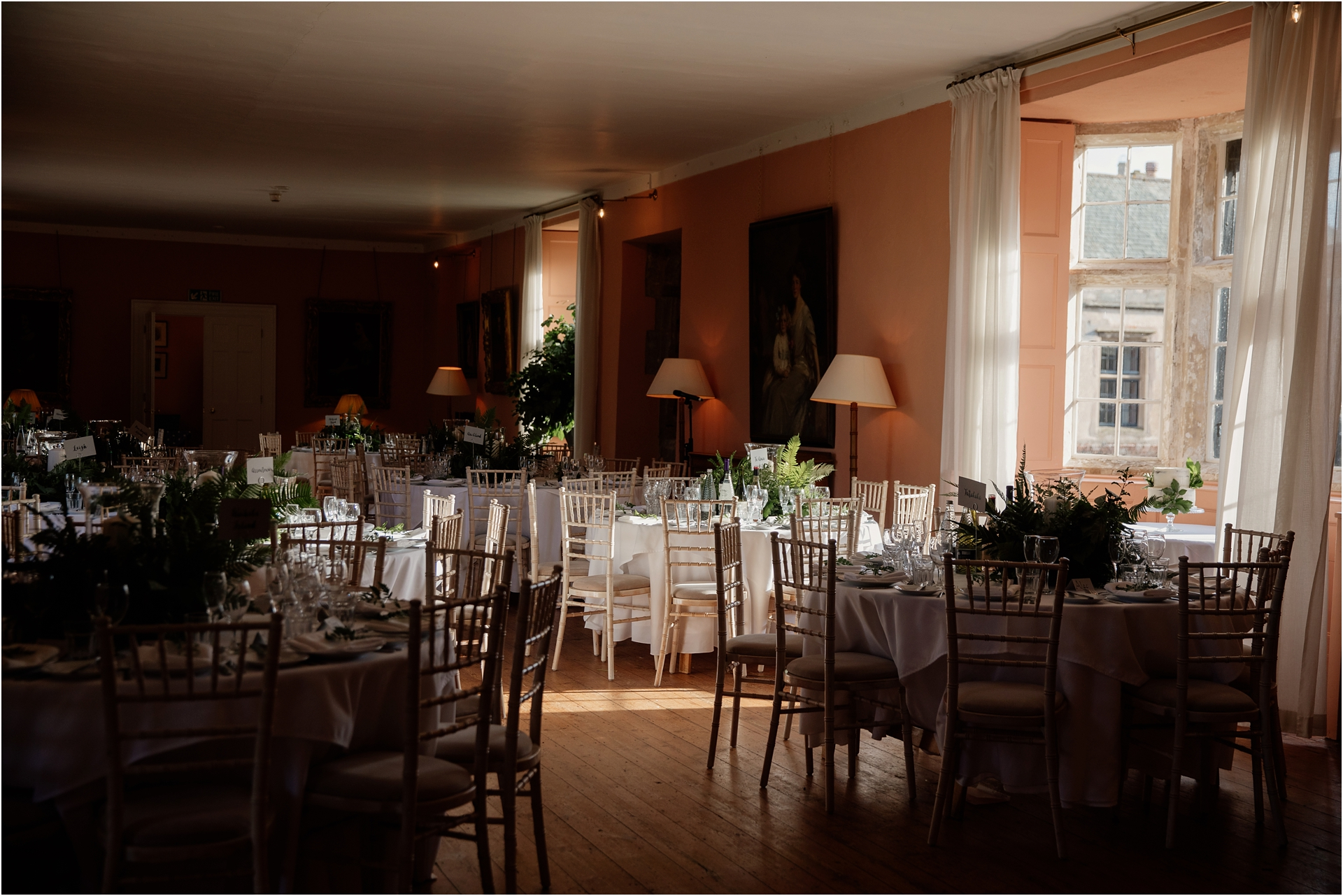 wedding reception at Holme Pierrepont Hall