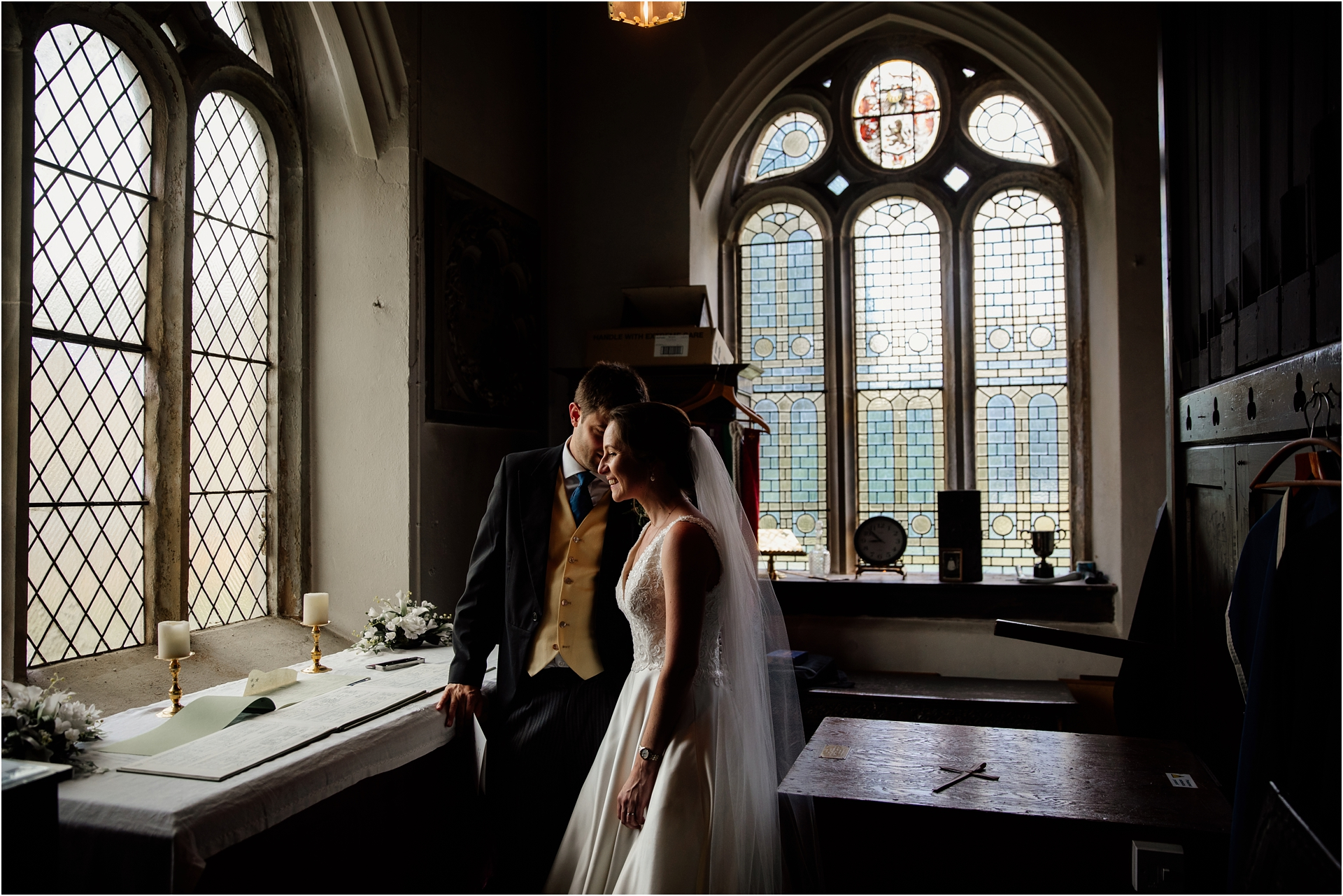 church ceremony at Holme Pierrepont Hall