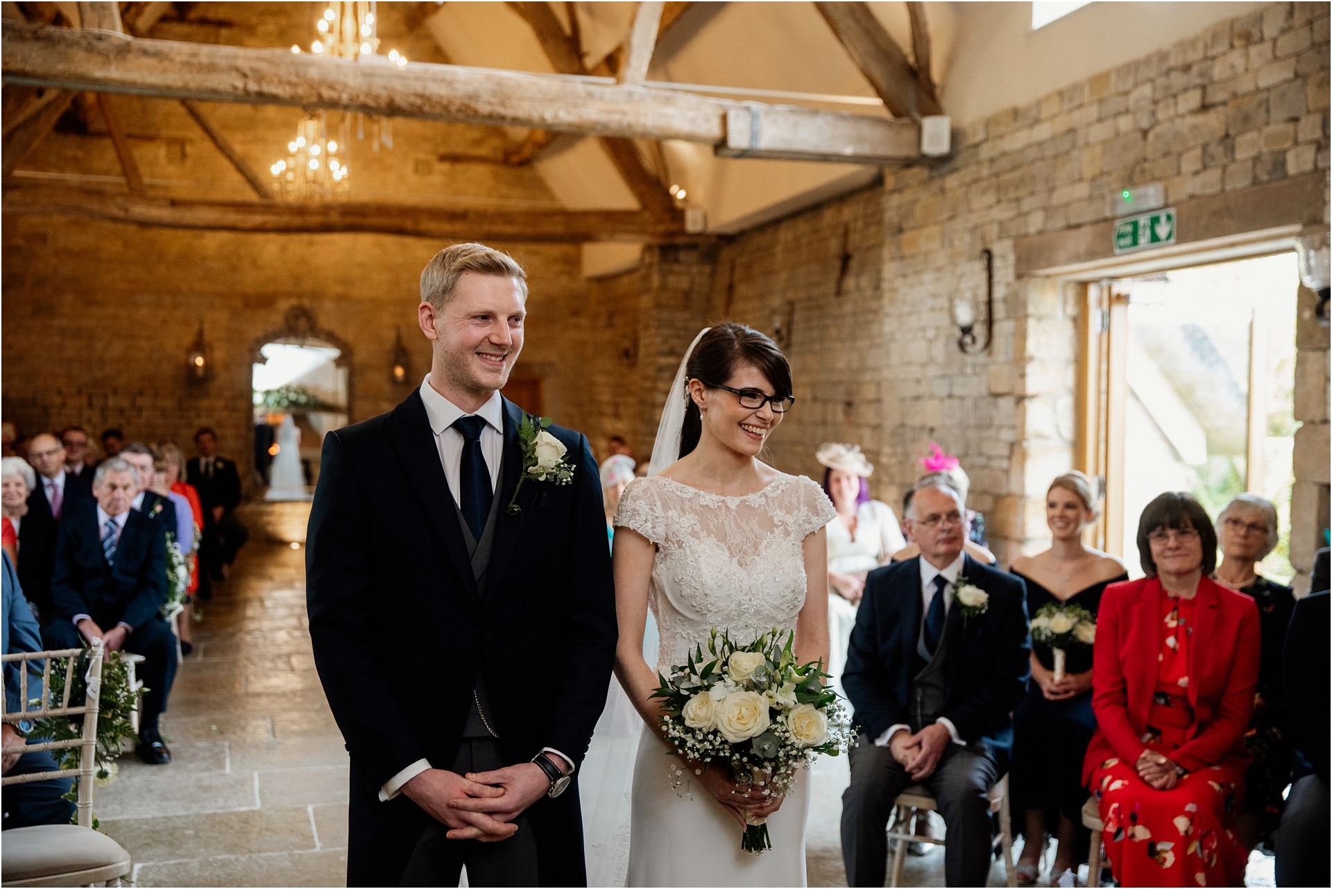 wedding ceremony at Blackwell Grange