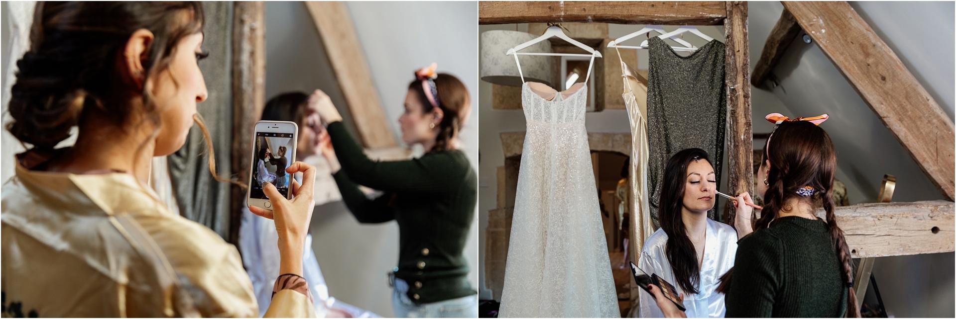 Bridal prep at Lapstone Barn