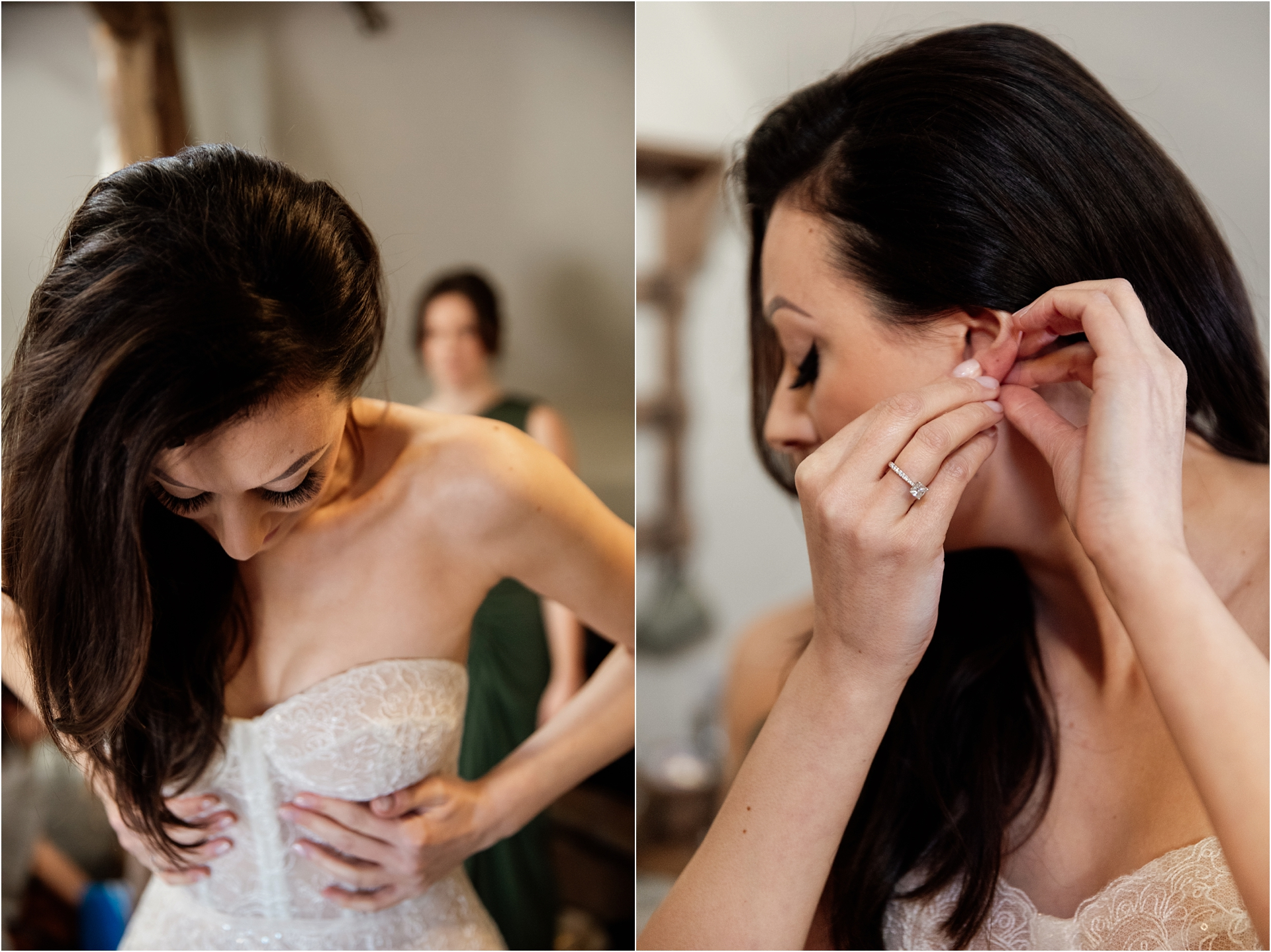 Bridal prep at Lapstone Barn