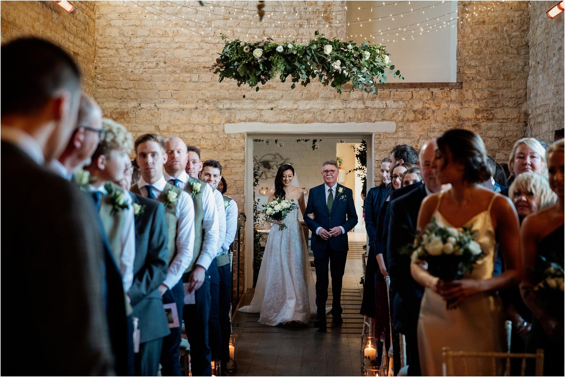 bridal entrance Lapstone Barn wedding