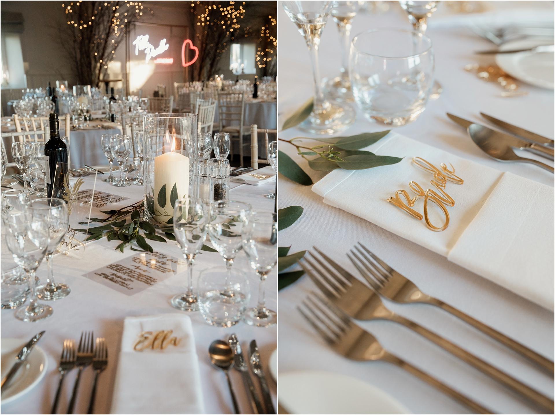 Lapstone Barn winter wedding style