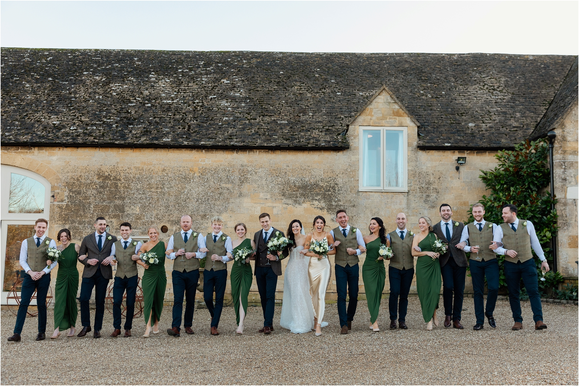 glamorous barn wedding in The Cotswolds