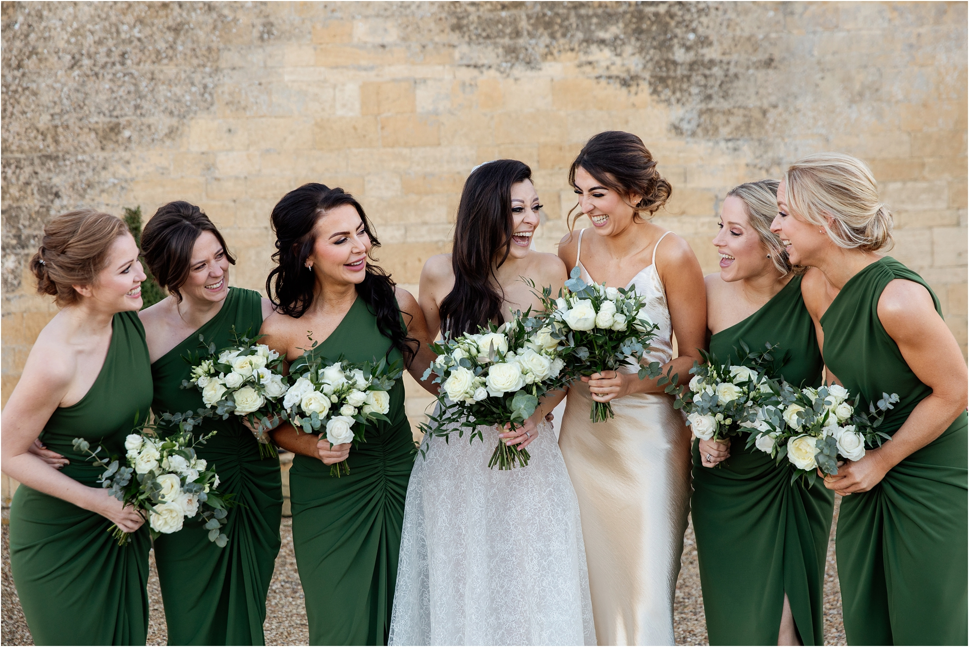 Bridal party at Lapstone Barn wedding