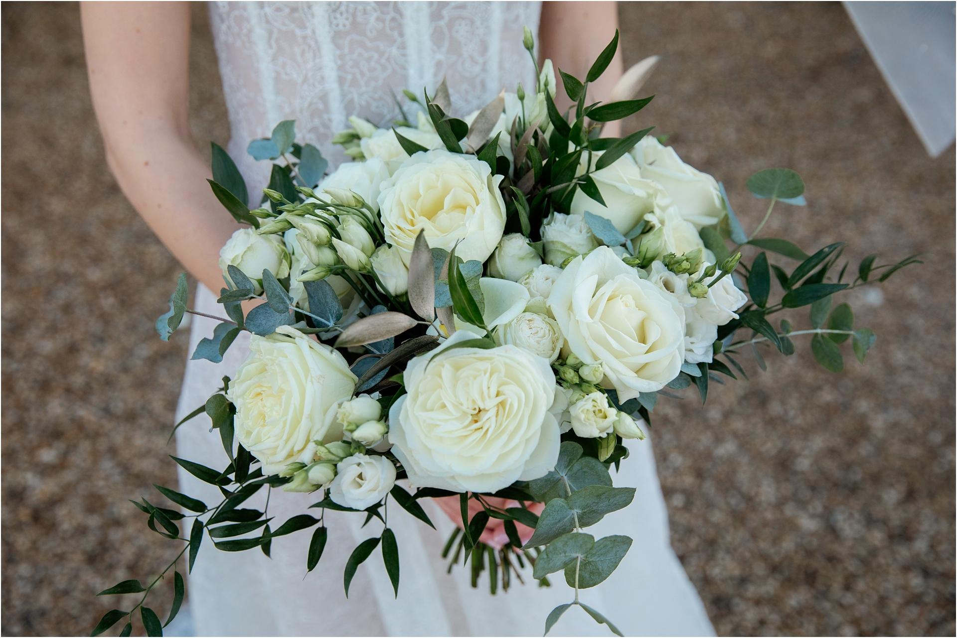 winter wedding bouquet Lapstone Barn