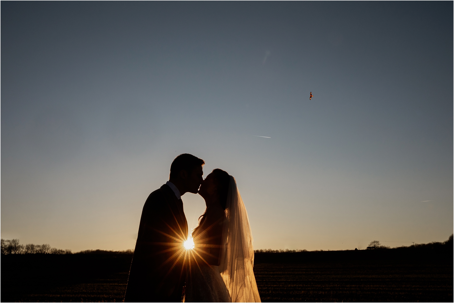 Bride and groom at Lapstone Barn