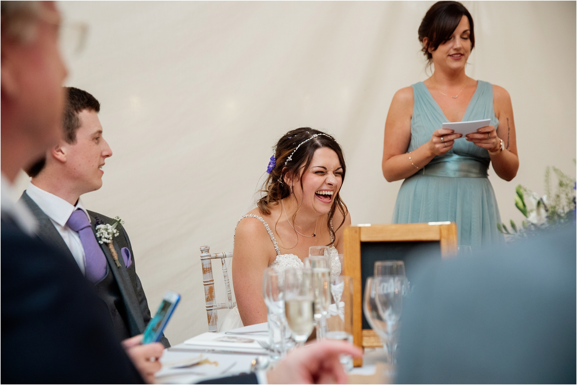 wedding speeches at Newton House Barns