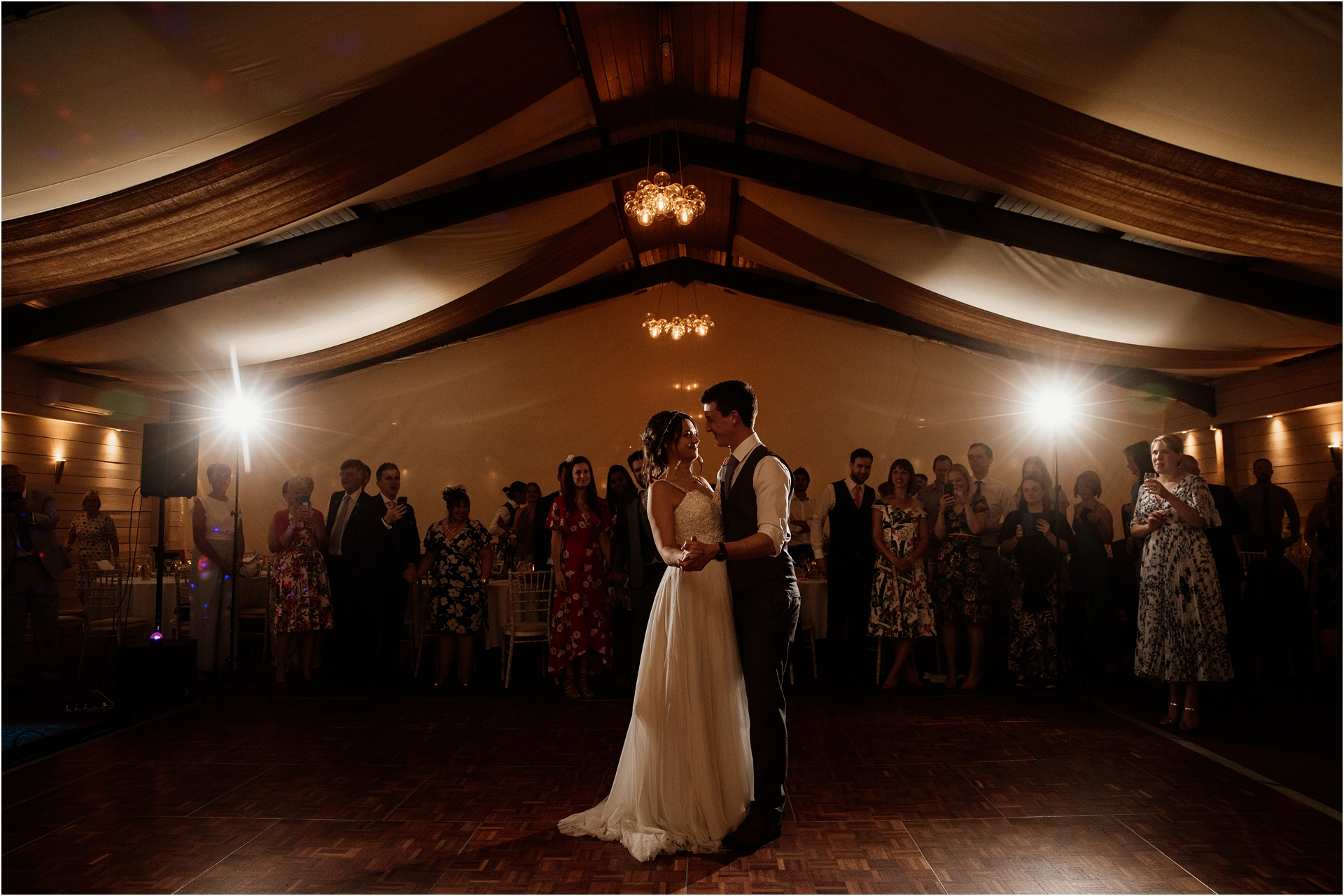 first dance at Newton House Barns wedding